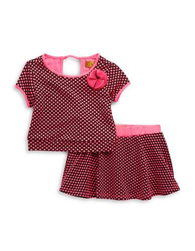 Baby Girls Polka Dot Tee and Skirt Set plus size,  plus size fashion plus size appare