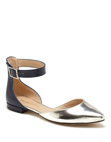 ARTURO CHIANGKenneth Embossed and Solid Leather Flats