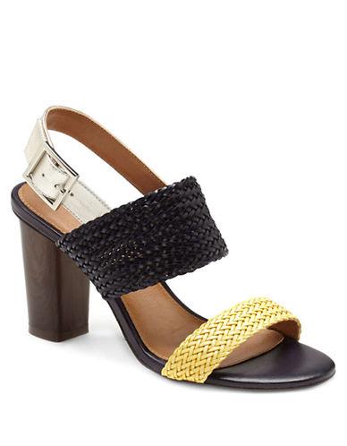 ARTURO CHIANGGlenda Woven Leather Colorblock Sandals