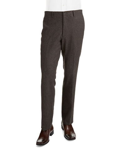 Black Brown 1826 Tweed Dress Pants