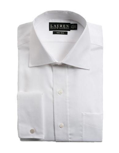 LAUREN RALPH LAURENRegular Fit French Cuff Textured Cotton Dress Shirt