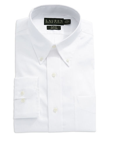 LAUREN RALPH LAUREN Slim-Fit Pinpoint Dress Shirt