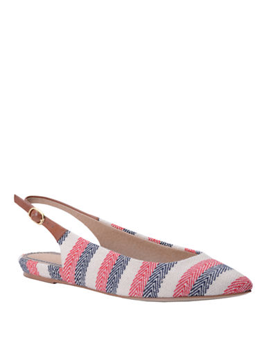 SPLENDID Saryn Striped Slingback Flats