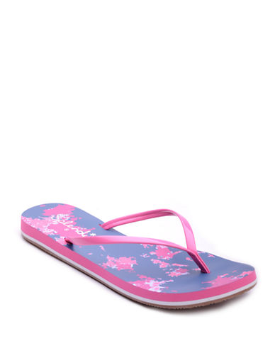 SPLENDID Firefly Patent Leather Thong Sandals