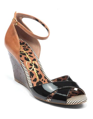 JESSICA SIMPSONNouta Leather Wedge Sandals