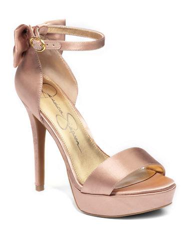 JESSICA SIMPSONBowie Satin High-Heel Sandals