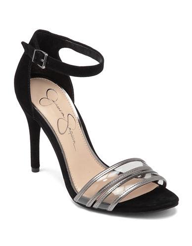 JESSICA SIMPSON Jessies Color-Block High-Heel Sandals