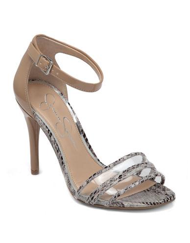 JESSICA SIMPSONJessies Color-Block High-Heel Sandals