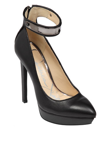 JESSICA SIMPSON Voilla Leather Pumps