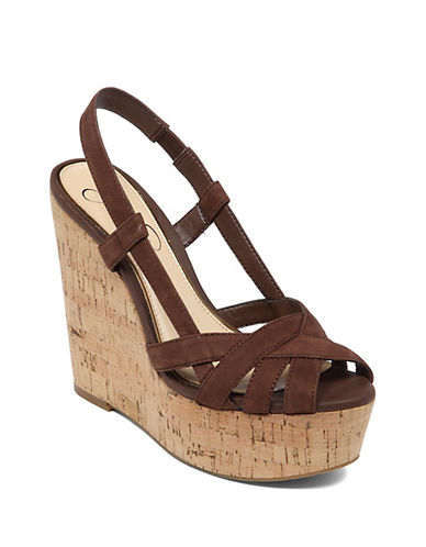 JESSICA SIMPSONWestt Cork Wedge Sandals