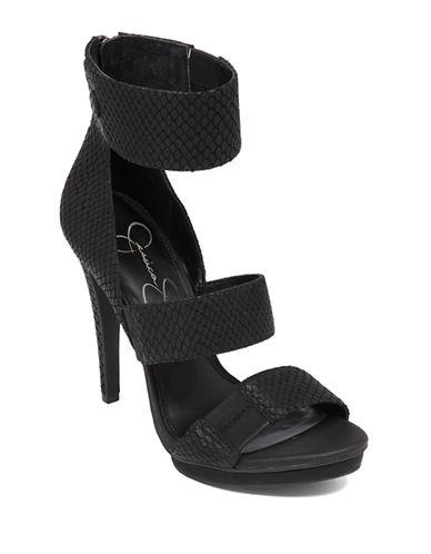 JESSICA SIMPSONFransi Embellished Leather Open-Toe Sandals