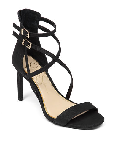 JESSICA SIMPSON Myelle High-Heel Leather Sandals
