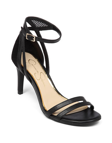 JESSICA SIMPSON Mayetta High-Heel Leather Sandals