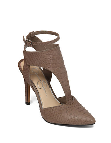 JESSICA SIMPSON Vianca Leather Heels