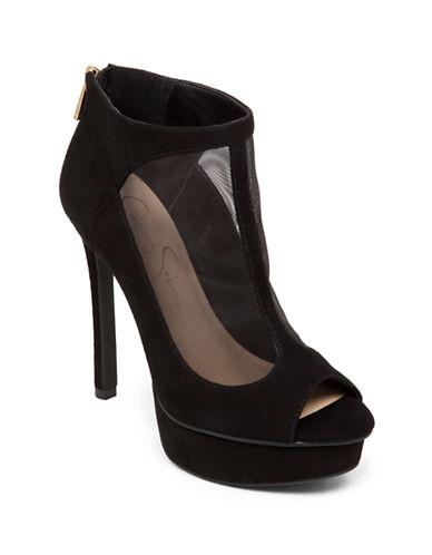 JESSICA SIMPSONCaiazzo Suede Leather Stilettos