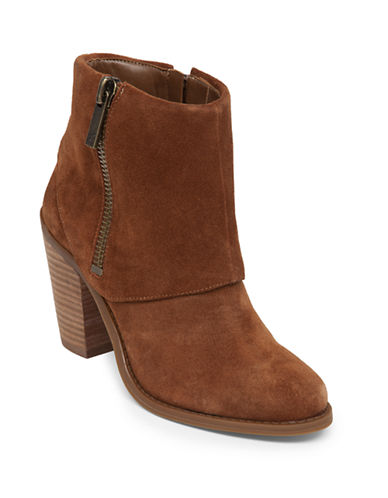 JESSICA SIMPSON Caufield Suede Leather Booties