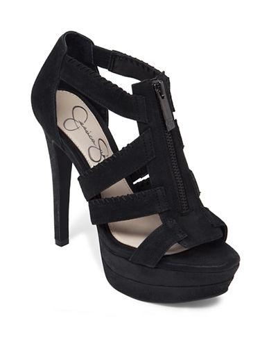 Jessica Simpson Leather Strappy Platform Sandals