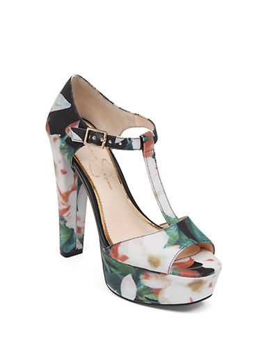 JESSICA SIMPSONAdelinah Floral Platform Sandals