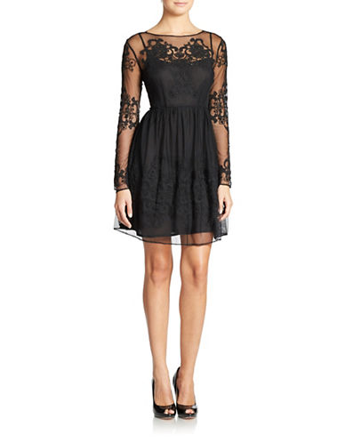 FRENCH CONNECTION Lace and Sequin Party Dress