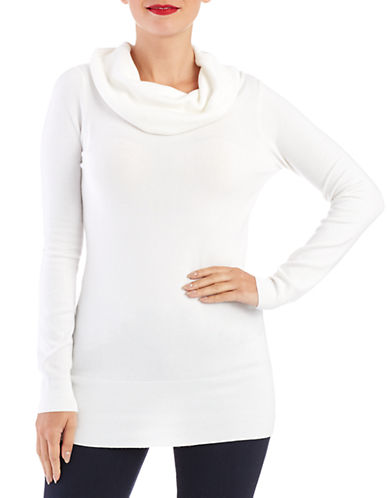 FRENCH CONNECTION Off The Shoulder Cowl Neck Pullover