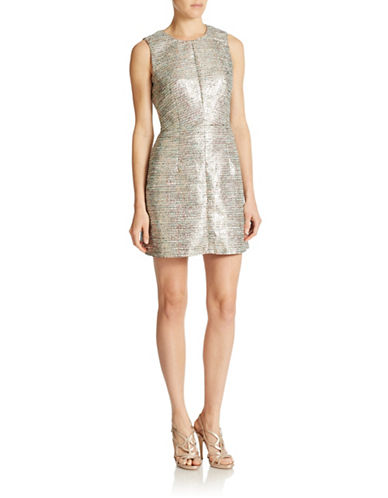 French Connection Sunlight Shimmer Fit-and-Flare Dress