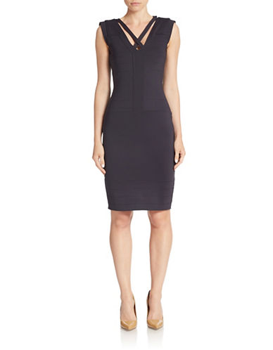 FRENCH CONNECTION V-Neck Sheath Dress