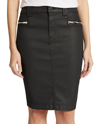 7 FOR ALL MANKINDCoated Pencil Skirt