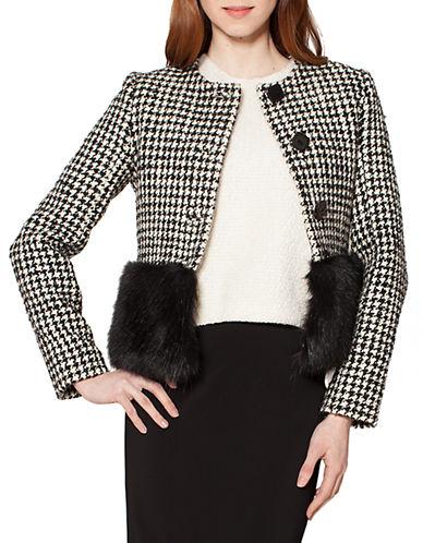 RAOULFaux Fur Blocked Jacket
