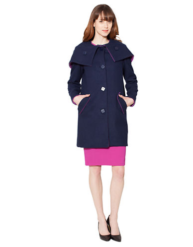 RAOULWool Blend Hooded Cocoon Coat