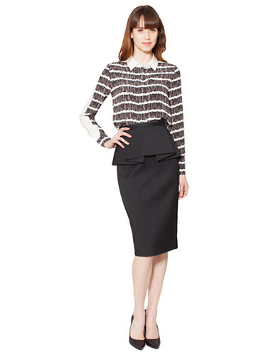 RAOUL Silk Tally Stripe Blouse