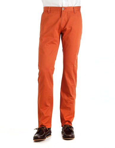 Alpha Slim Cotton Khaki Pants