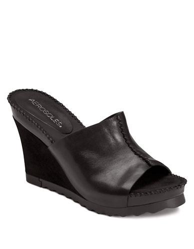 AEROSOLESBirthstone Leather Wedge Sandals