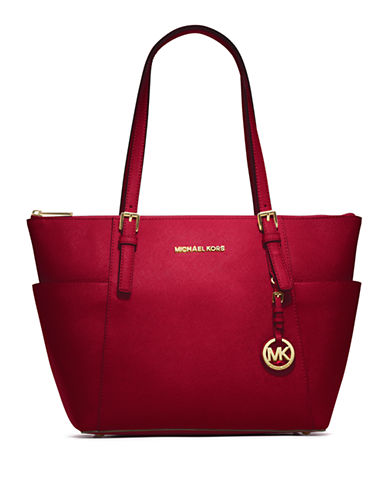 MICHAEL MICHAEL KORS Jet Set East West Leather Tote Bag