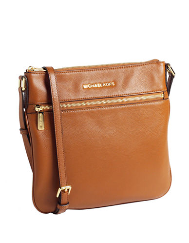 MICHAEL MICHAEL KORS Bedford Flat Leather Crossbody Bag