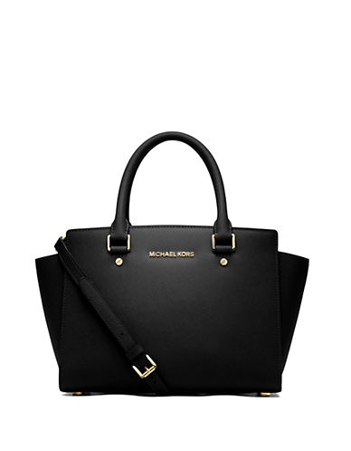 MICHAEL MICHAEL KORS Selma Leather Medium Zip Satchel