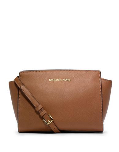 Michael Michael Kors Selma Leather Medium Messenger Bag