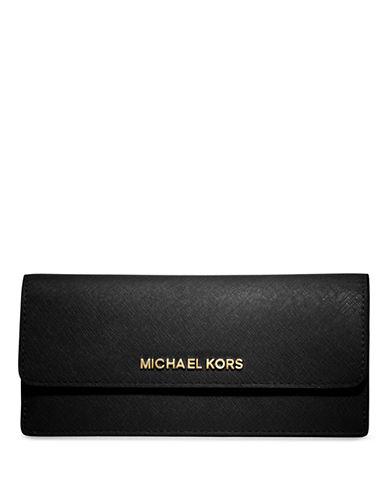 MICHAEL MICHAEL KORSJet Set Leather Travel Flat Wallet
