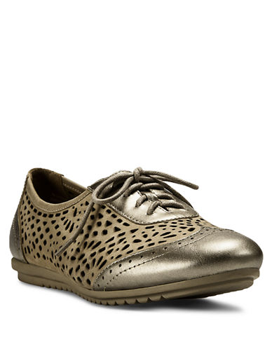 COBB HILL Ivanka Laser-Cut Leather Oxfords