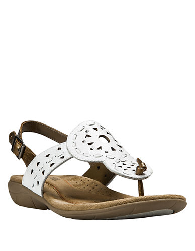 COBB HILL Willa Leather Wedge Sandals