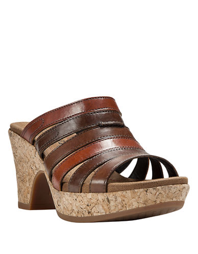 COBB HILL Courtney Leather Platform Sandals