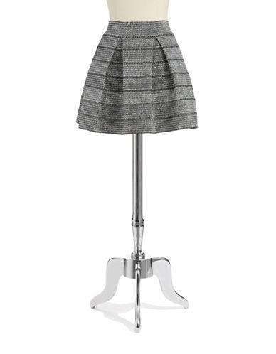 ROMEO AND JULIET COUTUREMetallic Tweed Skater Skirt