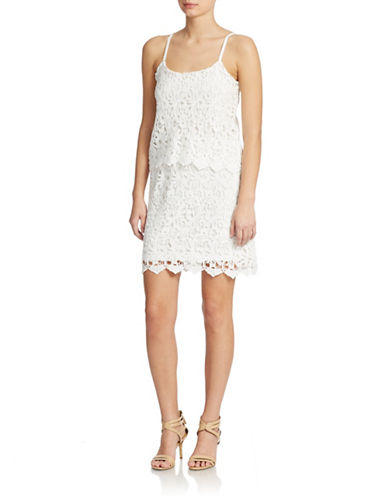Romeo And Juliet Couture Crochet Overlay Dress