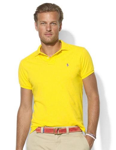 POLO RALPH LAURENClassic-Fit Short-Sleeved Mesh Cotton Polo