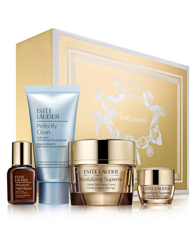 Estee Lauder Global Anti Aging Essentials Set with full size Revitalizing Supreme