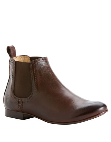 FRYEJillian Leather Flat Ankle Boots
