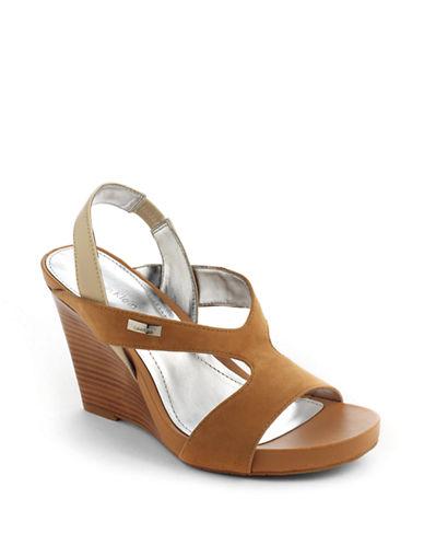 Opal Suede Platform Wedge Sandals