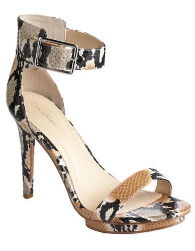 CALVIN KLEINVivian Snakeskin Embossed Sandals