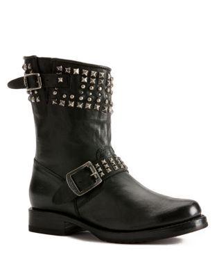 Frye Veronica Leather Biker Boots