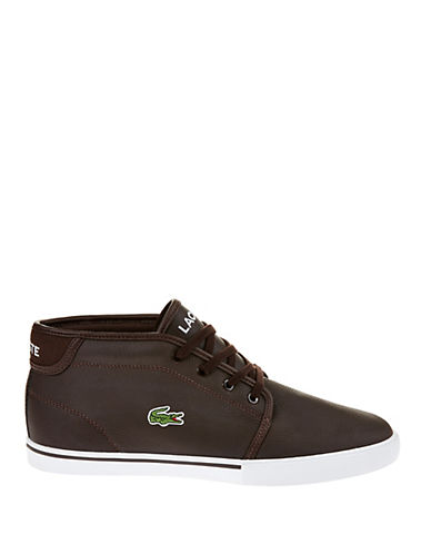 LACOSTELeather Chukka-Style Sneakers