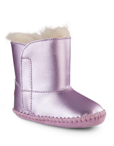 UGG AUSTRALIANewborn Girls 0-9 Months Cassie Metallic Leather Boots